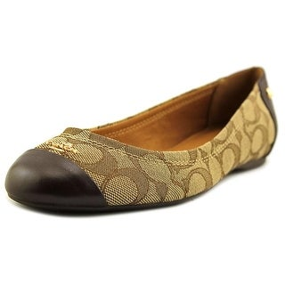 Coach Chelsea   Round Toe Leather  Ballet Flats