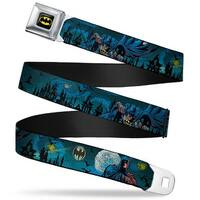 Batman Full Color Black Yellow Batman Gothic Knights Poses Webbing Seatbelt Seatbelt Belt