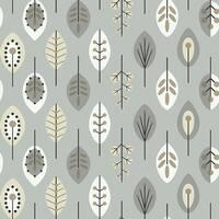 York Wallcoverings KB8527 Retro Leaves Wallpaper - metallic silver/white/black