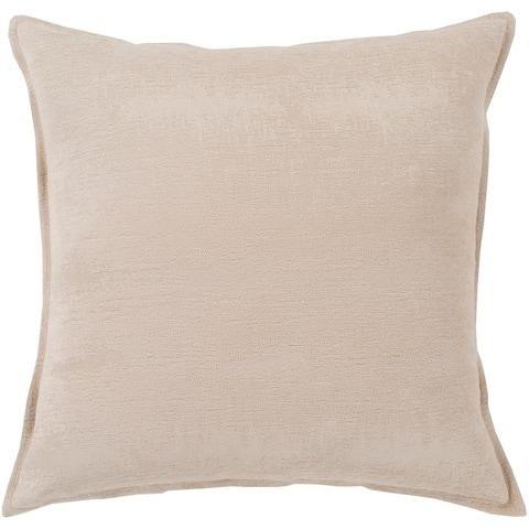 "Carson Carrington Taserud Solid Chenille Throw Pillow Cover (22"" x 22"")"