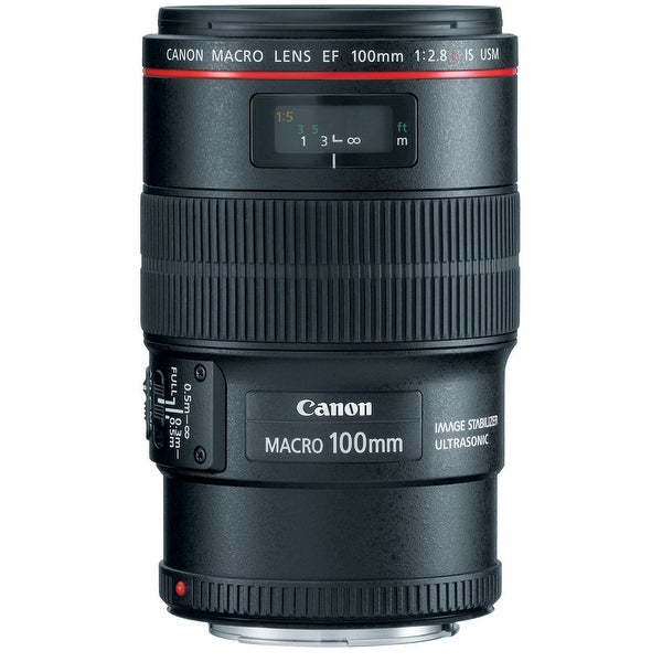 Canon EF 100mm f/2.8L Macro IS USM Autofocus Lens - black