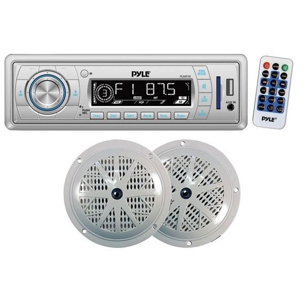 "Pyle AM/FM Mechless radio USB/SD reader 5.25"" Speaker system"