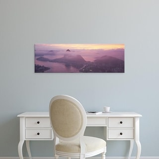 Easy Art Prints Panoramic Images's 'High angle view of a cityscape, Rio de Janeiro, Brazil' Premium Canvas Art
