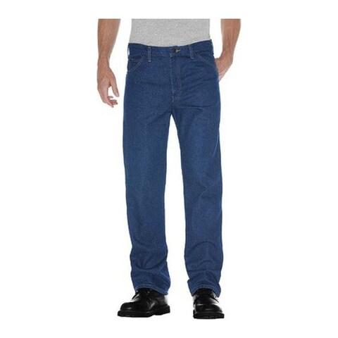 "Dickies Men's Regular Fit 5-Pocket Jean 34"" Inseam Indigo Based Denims"