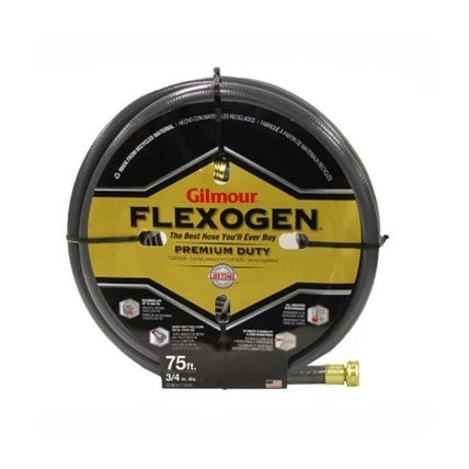 "Gilmour Flexogen 1034075 Garden Hose, 3/4"" x 75', Assorted Colors"