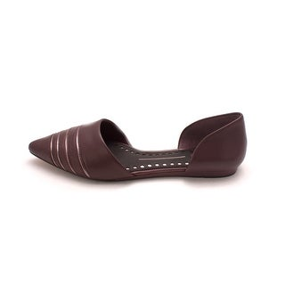 Dolce Vita Womens Adalynn Leather Pointed Toe Slide Flats (2 options available)