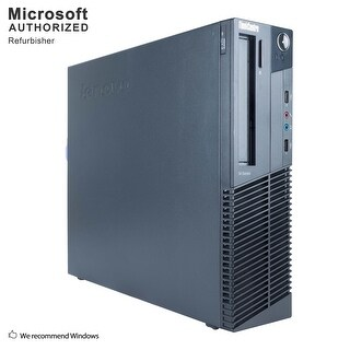 Lenovo M77 SFF, AMD ATHLON II X 2 220 2.8GHz, 8GB DDR3, 500GB HDD, DVD, WIFI, BT 4.0, VGA, W10H64 (EN/ES)-Refurbished
