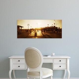 Easy Art Prints Panoramic Images's 'Tourists, Coney Island Boardwalk, Coney Island, Brooklyn, New York City' Canvas Art