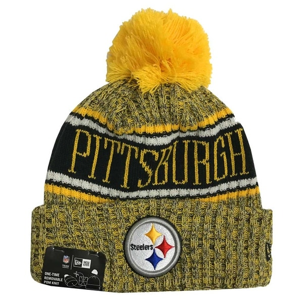 67f452352b2 Shop New Era 2018 NFL Pittsburgh Steelers Reverse Sport Stocking Knit Hat  Beanie Pom - Free Shipping On Orders Over  45 - Overstock - 23042850
