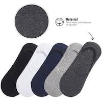 Hello Laura Men/Women Ankle Invisible No Show Nonslip Liner Cotton Socks