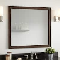 """Signature Hardware 939506-36 Chelles 36"""" W x 33"""" H Wood Framed Vanity Mirror - Antique Coffee - N/A"""