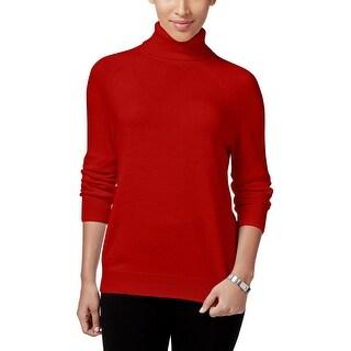 Karen Scott Womens Sweater Ribbed Trim Long Sleeve