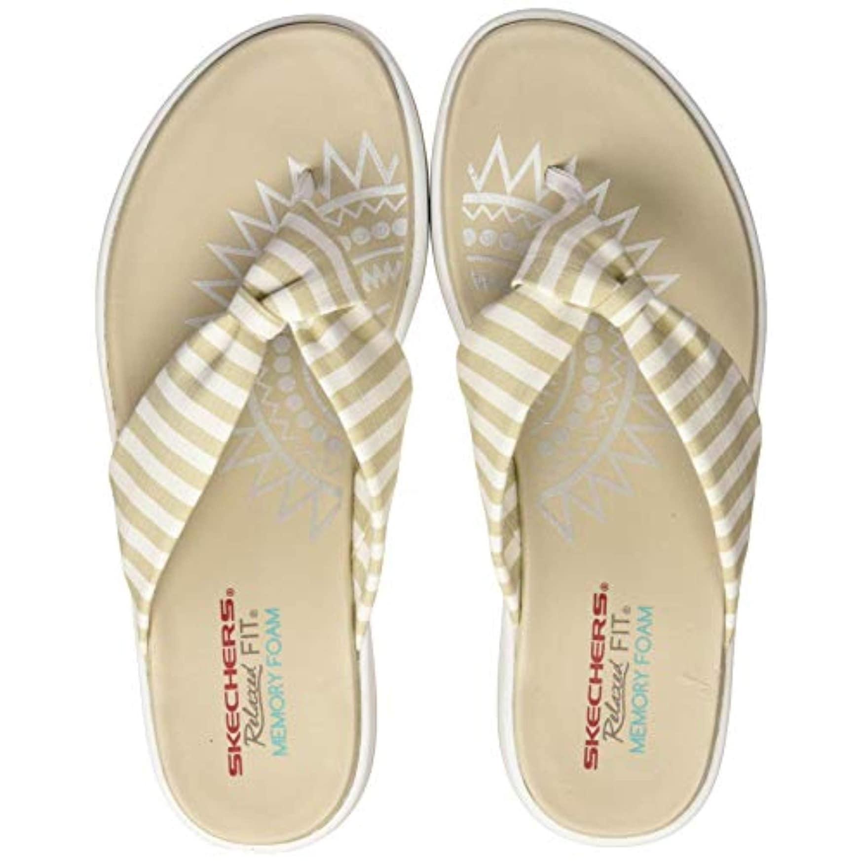 Tomate enemigo niebla tóxica  Skechers Relaxed Fit Upgrades Moon Bay Womens Flip Flops Natural 7 -  Overstock - 28658891