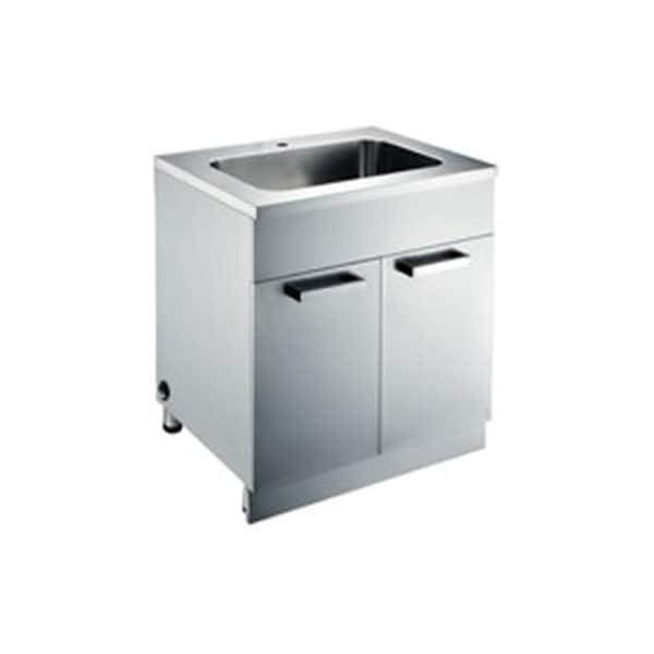 Dawn Kitchen Stainless Steel Sink Base Cabinet With Built In Garbag Free Shipping Today 22095158