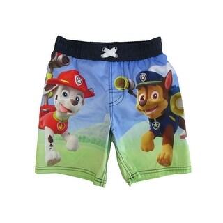 Nickelodeon Little Boys Green Paw Patrol Swim Shorts