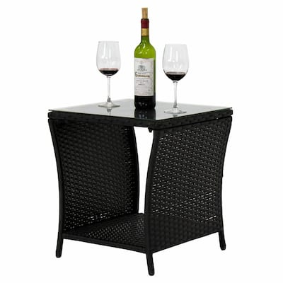 Wilminton Outdoor Square Wicker Side Table by Havenside Home