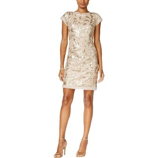Vince Camuto Womens Cocktail Dress Mesh Sequined