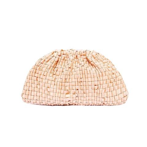Maria La Rosa Woven Ribbon Pink Rosa Baby Clutch Handbag