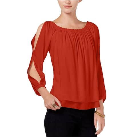 Sanctuary Clothing Womens Textured Pullover Blouse