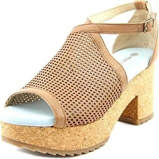 Eric Michael Darien Open Toe Leather Platform Sandal
