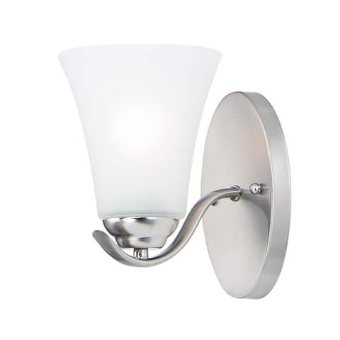 """Vital 1-Light 5.5"""" Wide Satin Nickel Vanity Light"""