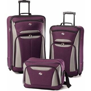 American Tourister Fieldbrook II 3 Piece Set, Purple/Grey