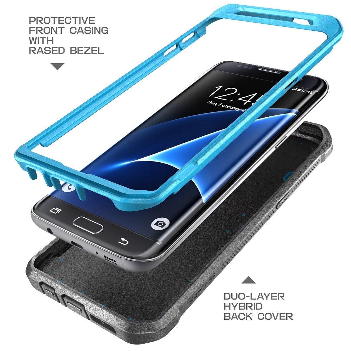 cheap for discount 6e717 196e5 Galaxy S7 Edge Case, SUPCASE,Unicorn Beetle PRO Series, Full-Body Rugged  Holster Case Samsung Galaxy S7 Edge-Blue/Black