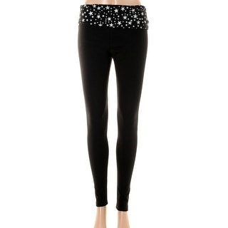 Guess Womens Fold-Over Skinny Yoga Pants