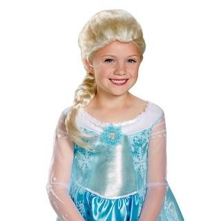 Frozen Girls Elsa Halloween Wig - Standard - One Size