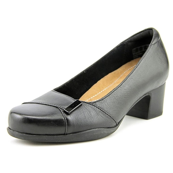 Clarks Narrative Rosalyn Belle Women Round Toe Leather Black Heels