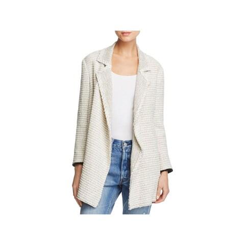 Theory Womens Petites Jacket Tweed Long Sleeves