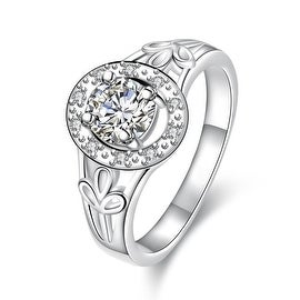 Petite Classic Stone Circular Emblem Ring