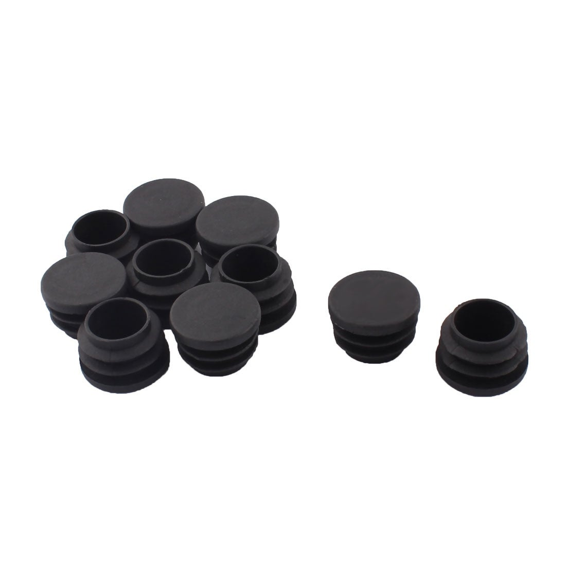 Furniture Clever Plastic Round Tubing Tube Insert Plug Cap Bung 28mm Dia 20pcs Black Soft And Antislippery