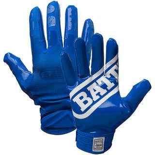 Battle Sports Science DoubleThreat UltraTack Football Gloves - Blue/Blue