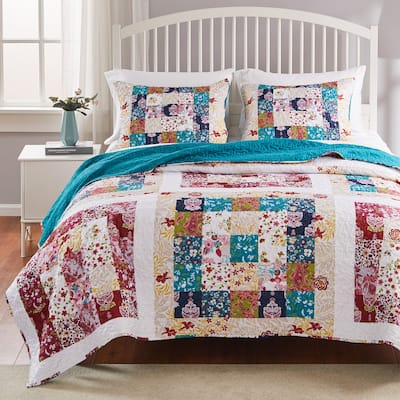 Greenland Home Fashions Harmony Quilt and Pillow Sham Set