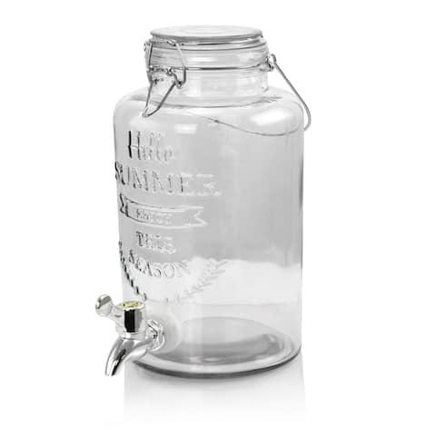2.5 Liter Mason Jar Glass Beverage Dispenser