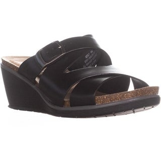 BareTraps Nealy Wedge Sandals, Black - 10 us