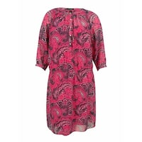 Ralph Lauren Women's Paisley Print Georgette Dress - Pink Multi