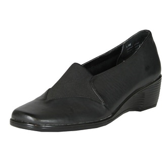 Jes Footwear Womens Boston Comfort Flats Shoes - black.