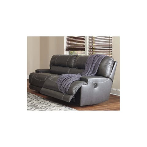 McCaskill Contemporary 2 Seat Reclining Sofa Gray
