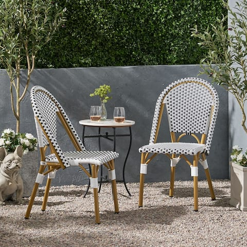 Elize Outdoor French Bistro Chair (Set of 2) by Christopher Knight Home