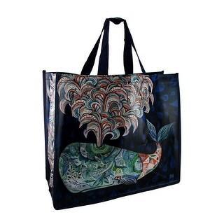 Allen Designs Colorful Spouting Whale Artistic Shopper Bag