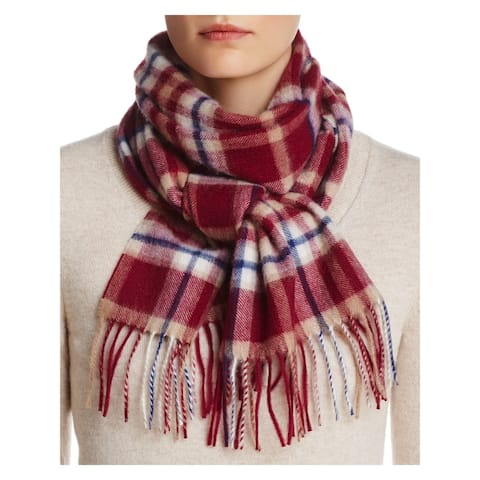 The Mens store Mens Maroon Plaid Cashmere Winter Scarf - ONE SIZE