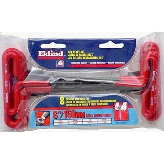 "Eklind 53168 T-Handle Hex Key, 6"", 8-Piece"