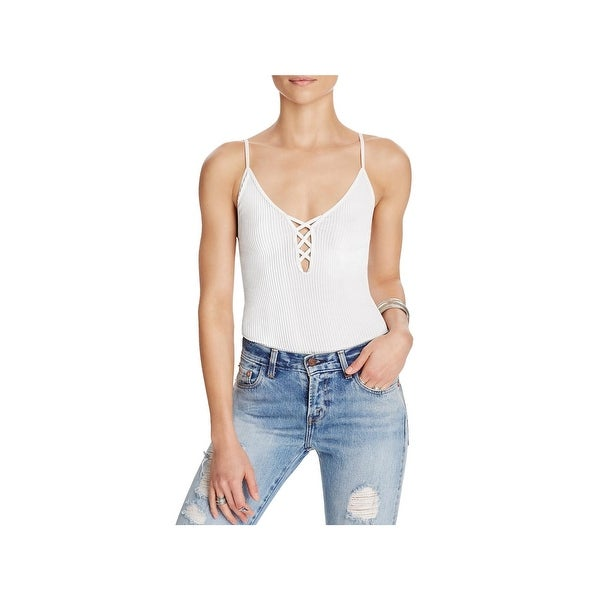 3a33a5075476c Shop Free People Womens Tank Top Criss Cross Lace-Up - Free Shipping ...