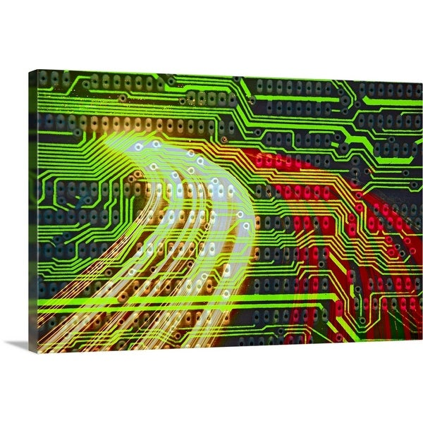 """""""Circuitry and traffic"""" Canvas Wall Art"""