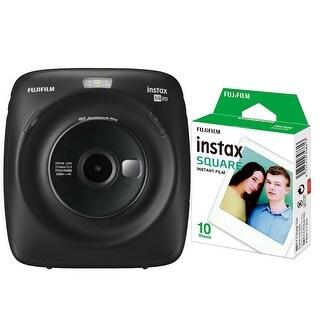 Fujifilm Instax Square SQ20 Hybrid Instant Camera (Black) with Square Film