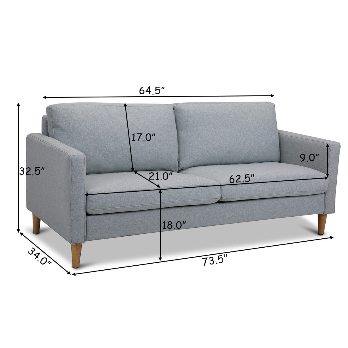 Couch Sofa Love Seat Upholstered Bed