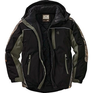 Legendary Whitetails Men's Camo Glacier Ridge Pro Series Jacket - Black