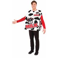 Milk Carton Adult Costume One Size - White